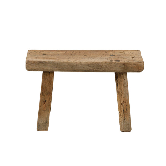 Vintage Chinese Elm Low Stool 001