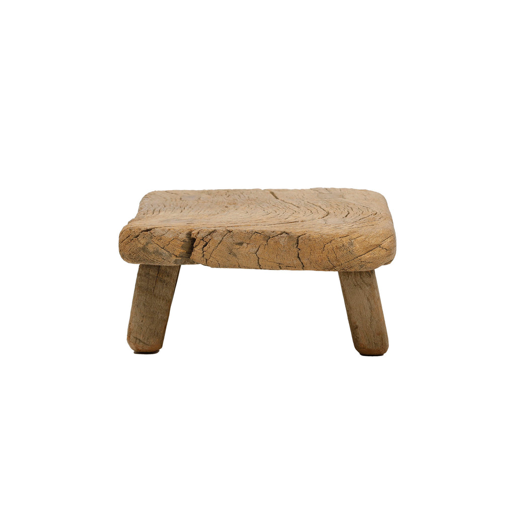 Vintage Chinese Elm Low Stool 004