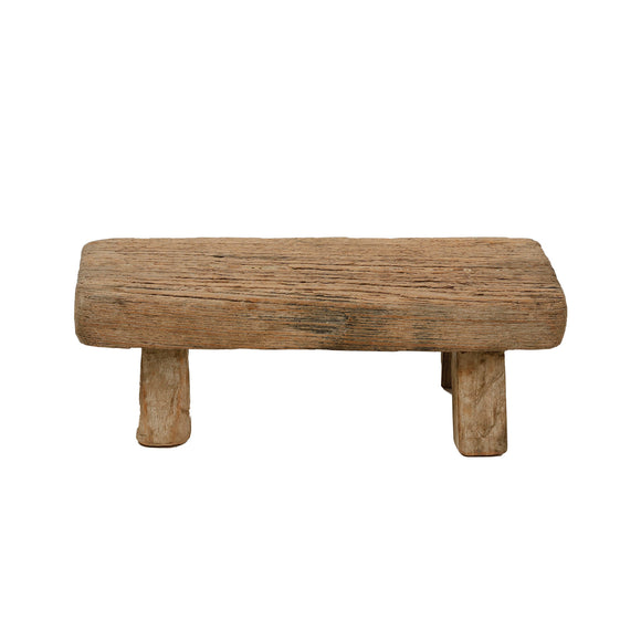 Vintage Chinese Elm Low Stool 005