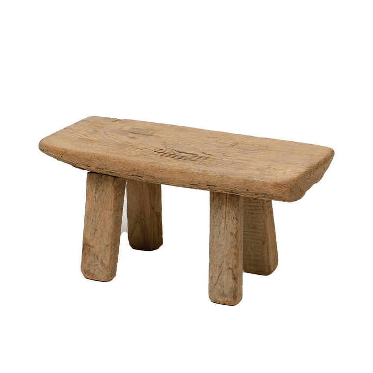 Vintage Chinese Elm Low Stool 007