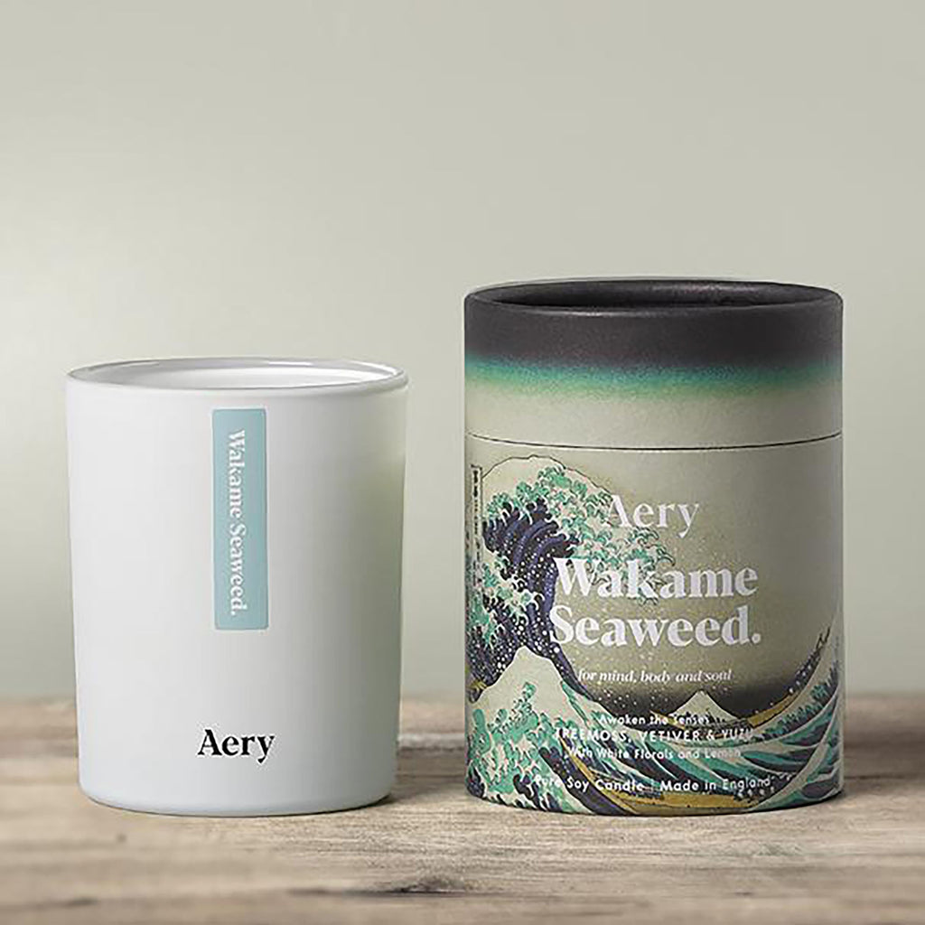 Wakame Seaweed Scented Candle - Tree Moss Vetiver and Yuzu
