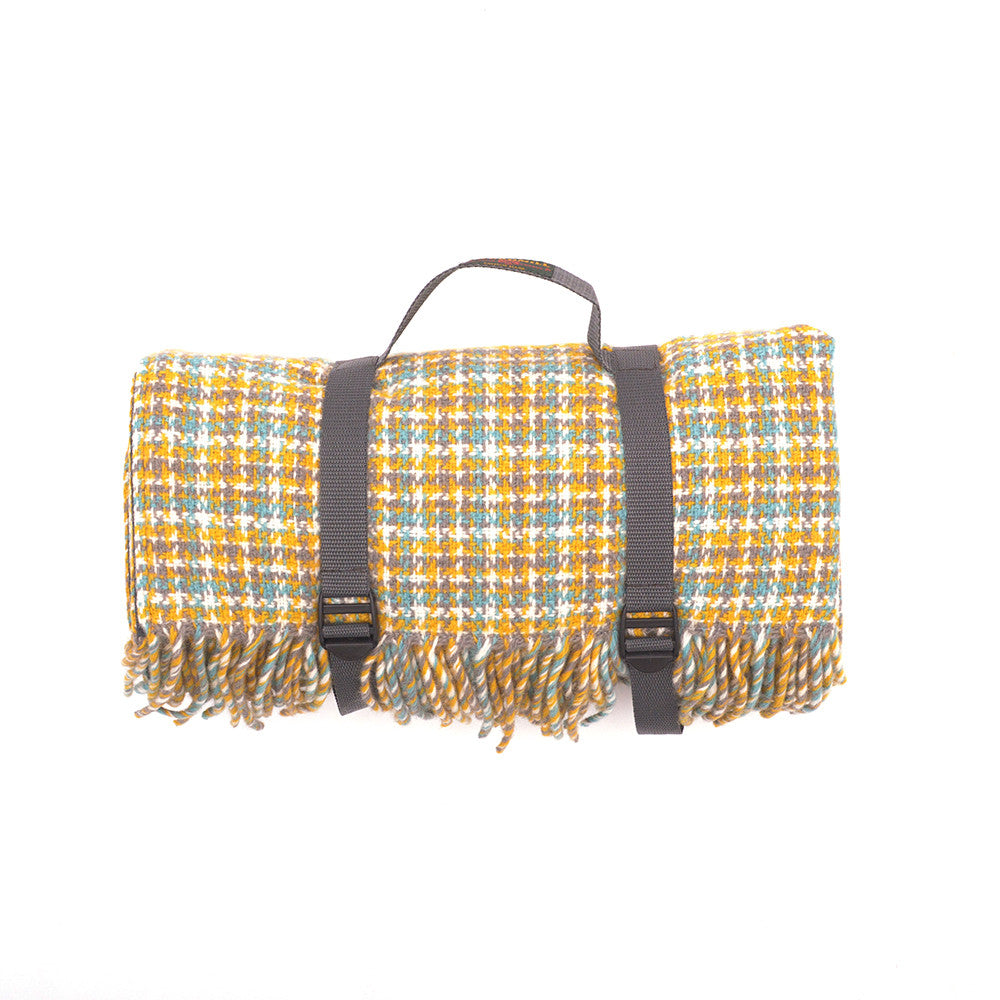 Tweedmill All Wool Picnic Blanket Wilderness rolled