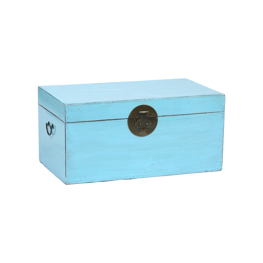 Light Blue Chinese Chest from Shandong side view
