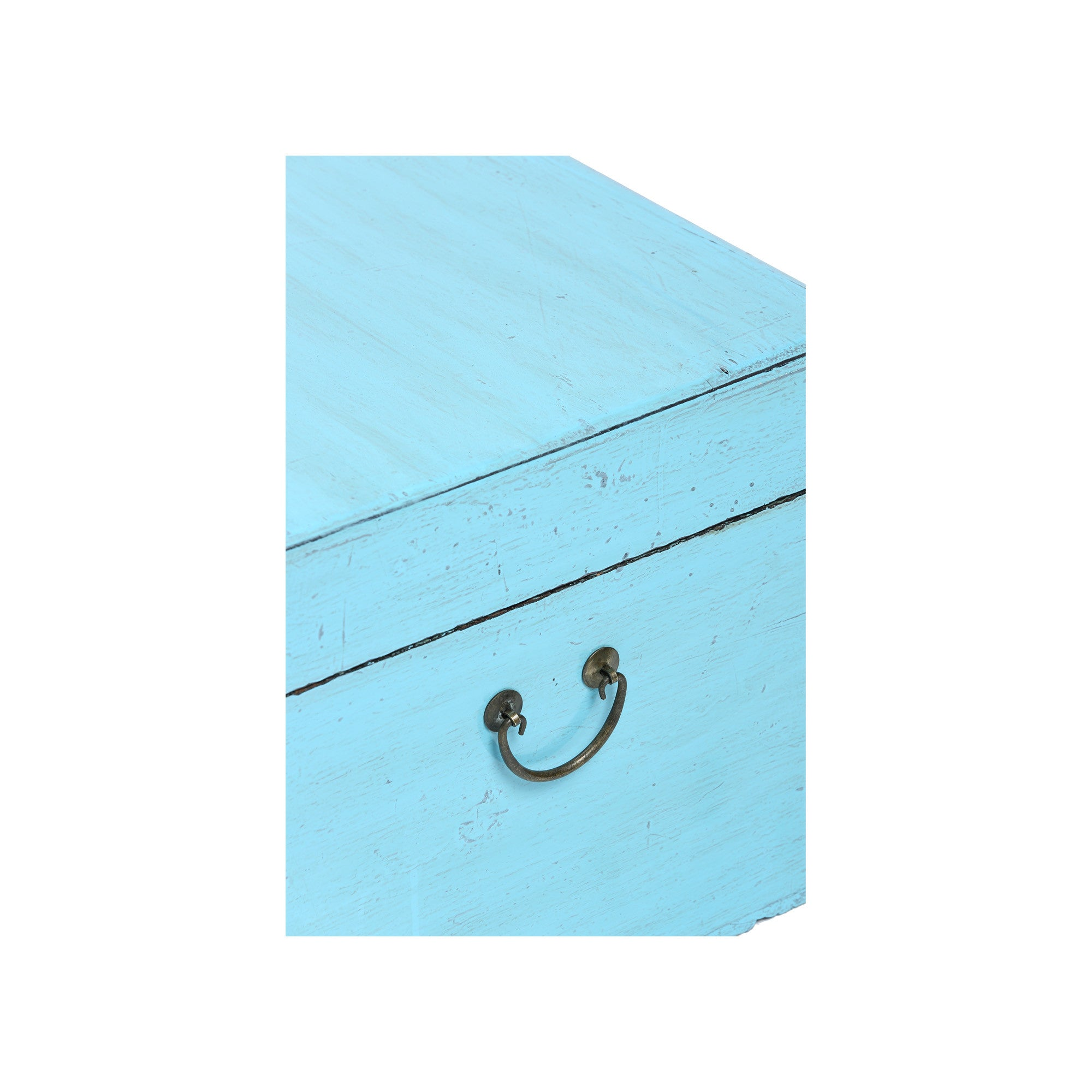 Light Blue Chinese Chest from Shandong surface detail