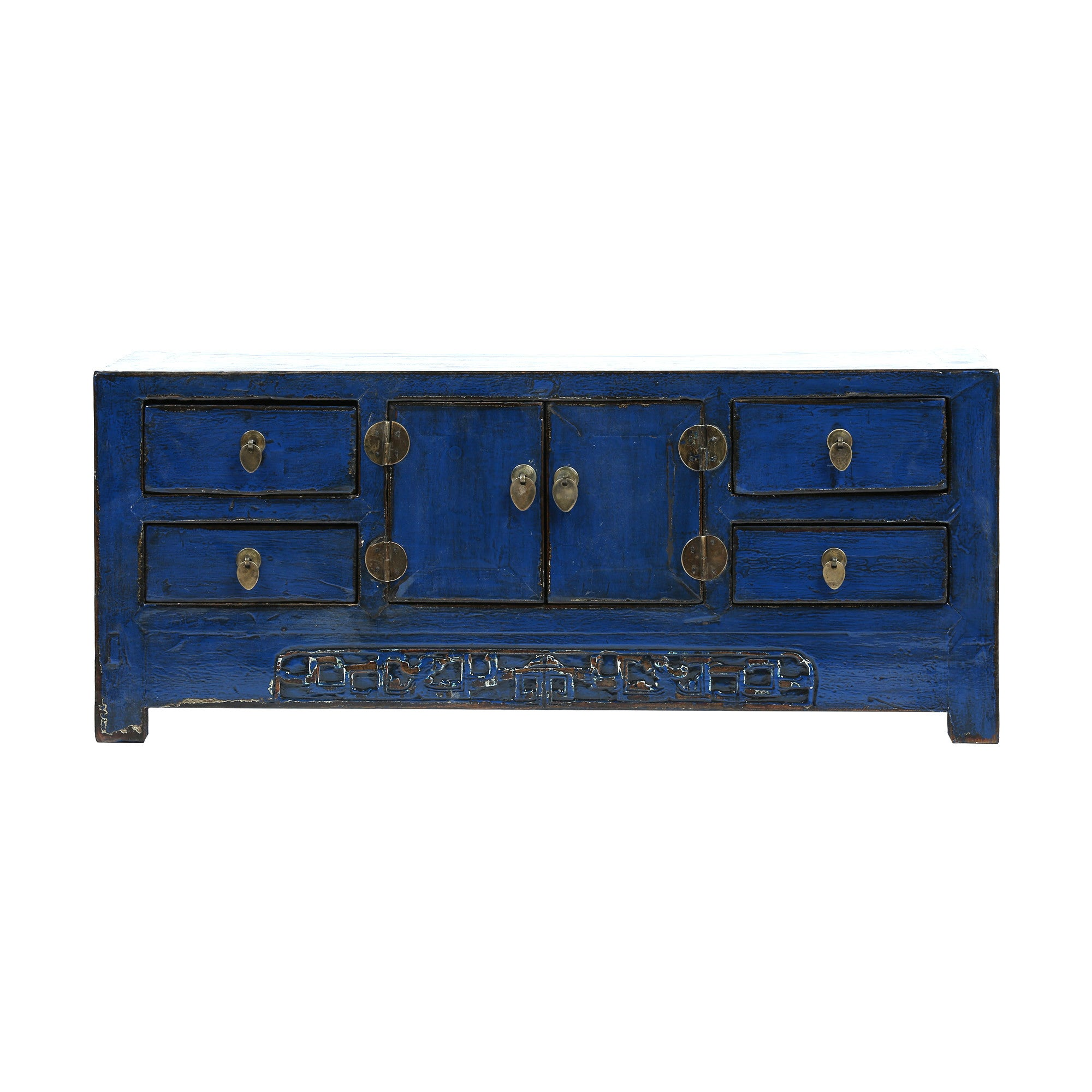 Low Blue Vintage Chinese Sideboard