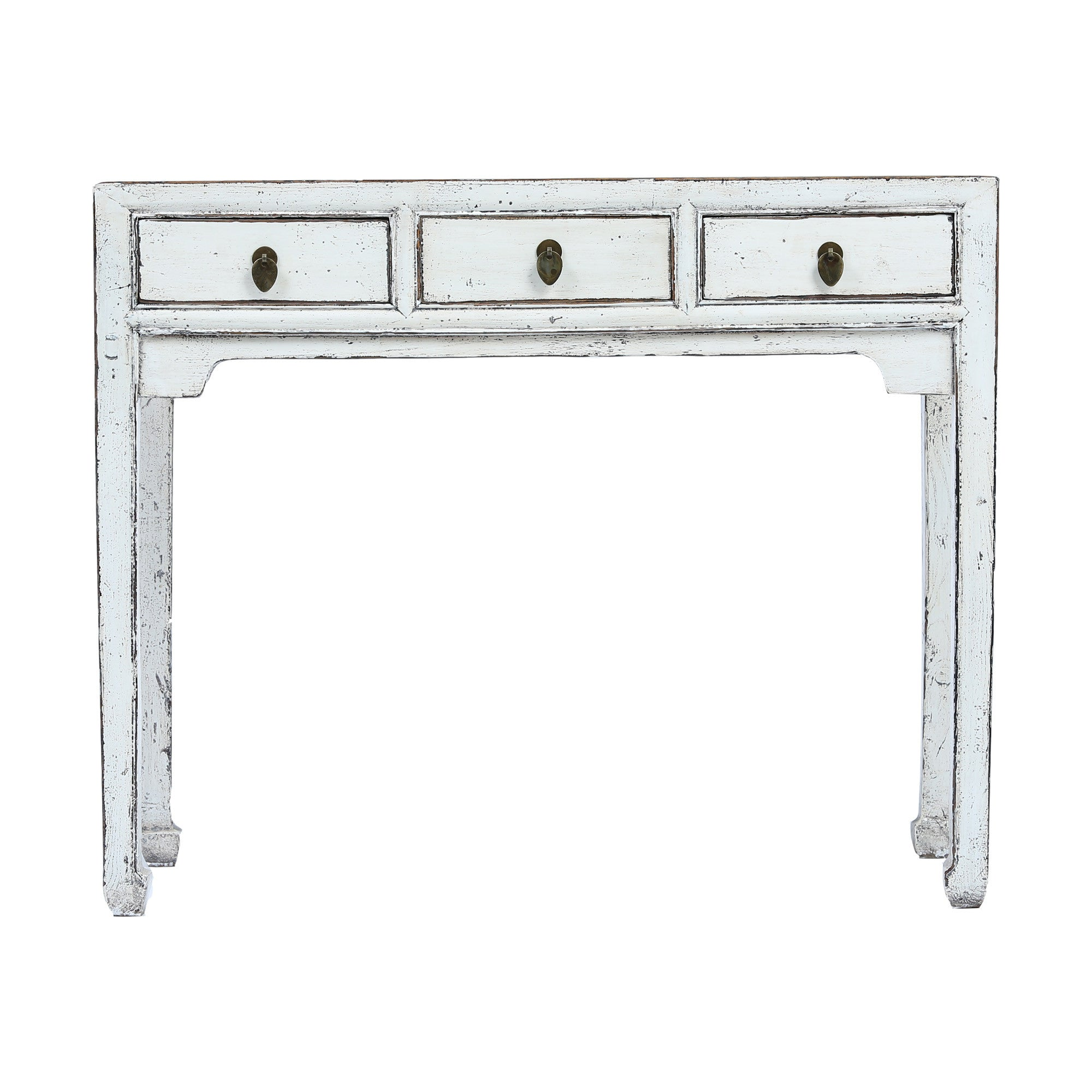 Rustic Vintage Chinese Writing Desk in White