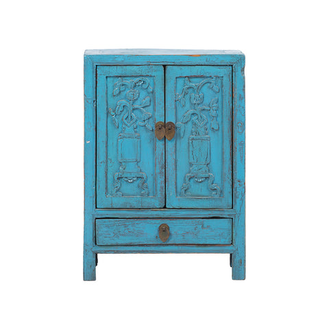Rouge light blue wooden cabinet front
