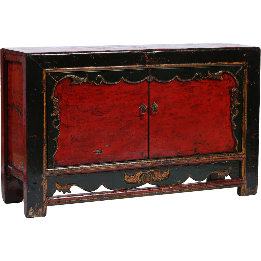 Vintage Chinese Cabinet from Gansu side view