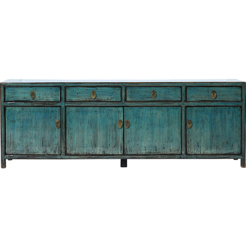 Chinese painted 4-door 4-drawer TV Cabinet