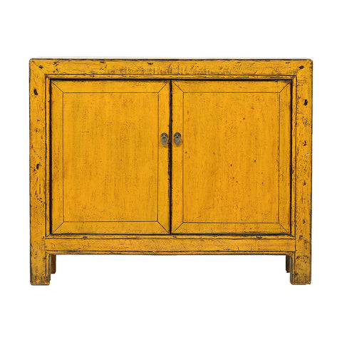 Yellow Vintage Sideboard from Gansu - Chinese homewares- Rouge Shop antique stores London - city furniture