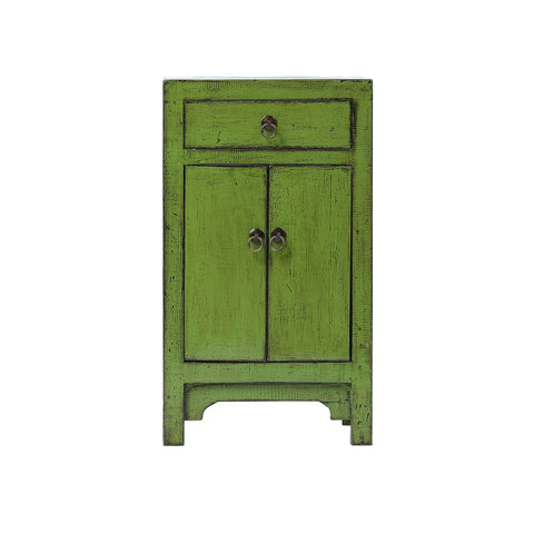 Green Chinese Bedside Cabinet