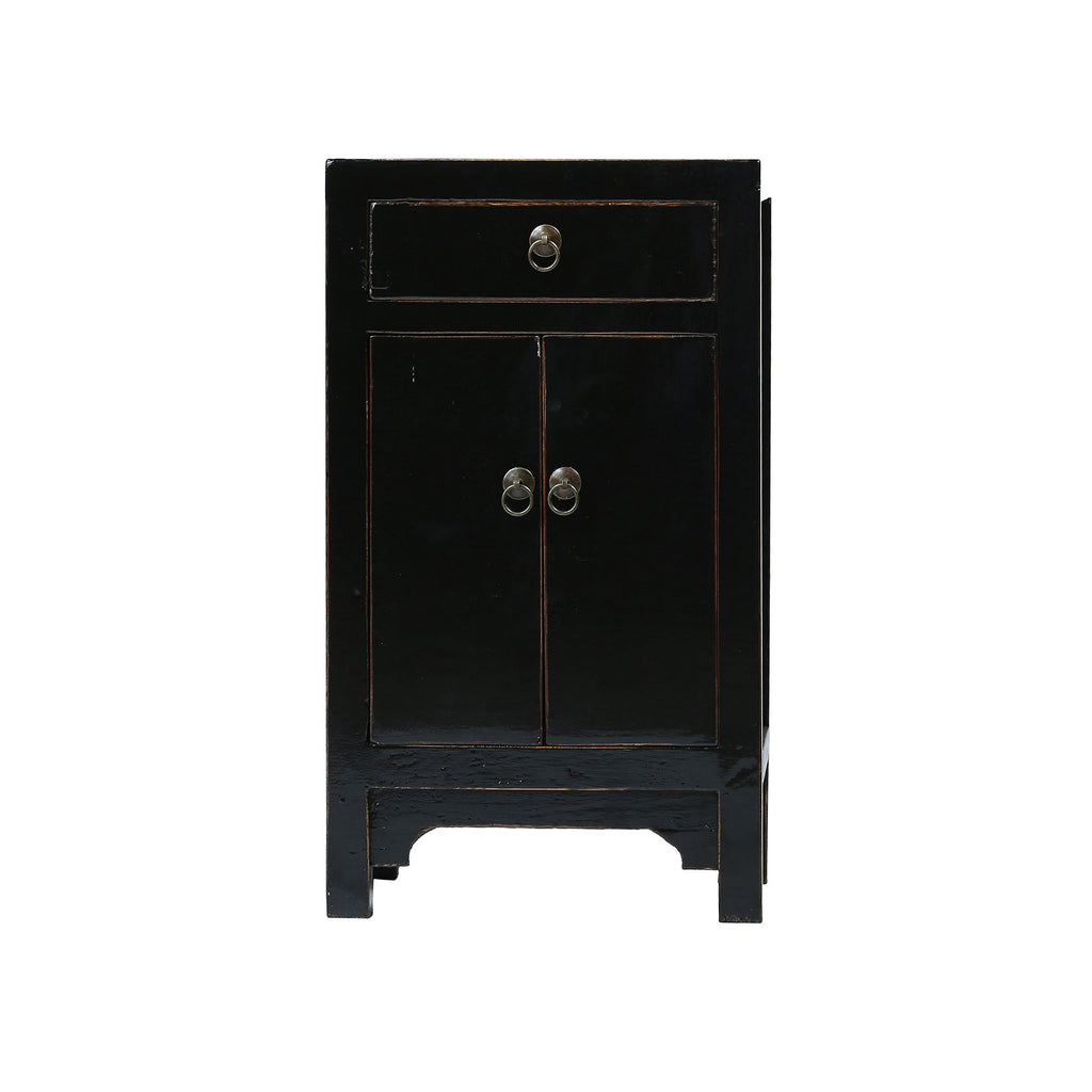 Black Chinese Bedside Cabinet - Chinese homewares- Rouge Shop antique stores London - city furniture