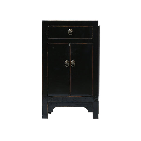 Black Chinese Bedside Cabinet