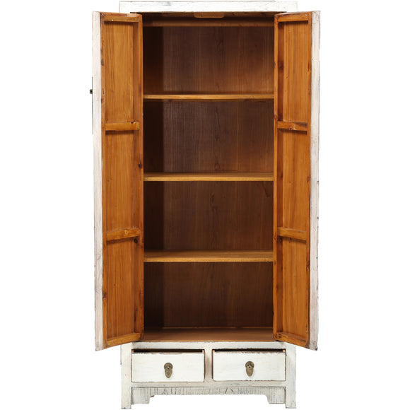 Contemporary Tall White Chinese Cabinet - Chinese homewares- Rouge Shop antique stores London - city furniture