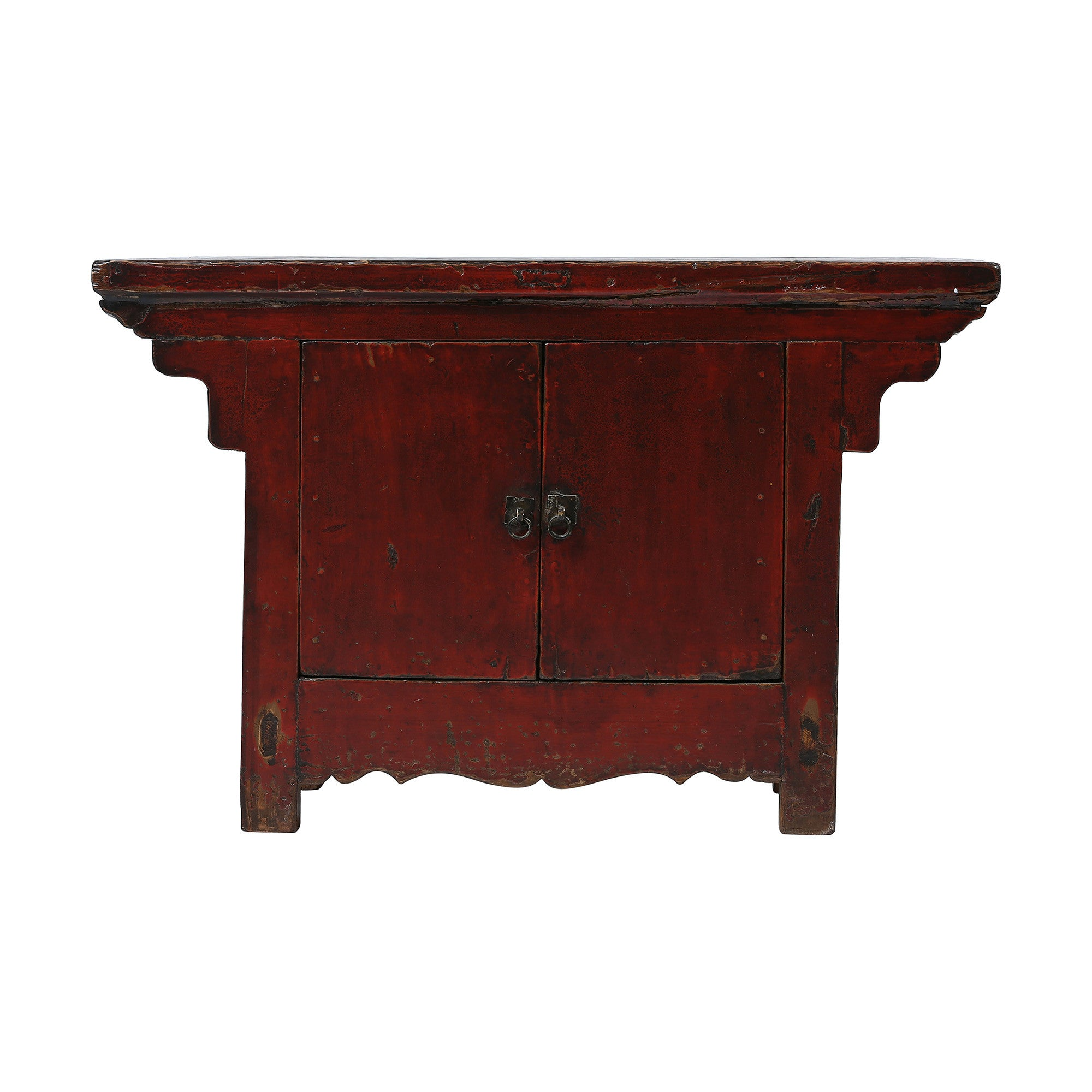 Dark Red Vintage Chinese Two-door Cabinet