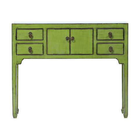 Green Chinese Console Table