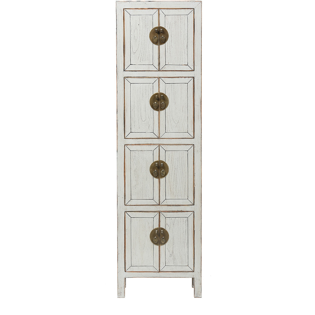 Grey Slim Tall Chinese Cabinet - Chinese homewares- Rouge Shop antique stores London - city furniture