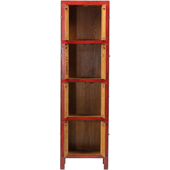 Red Slim Tall Chinese Cabinet - Chinese homewares- Rouge Shop antique stores London - city furniture