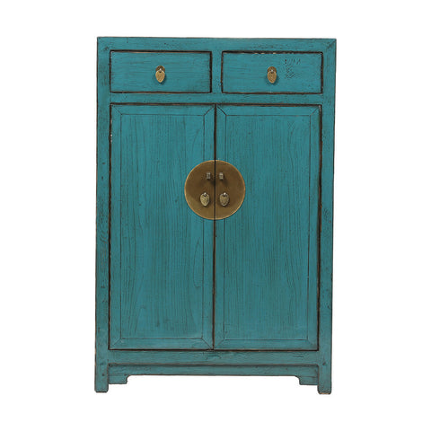 ROUGE Turquoise Chinese Cabinet with High Doors