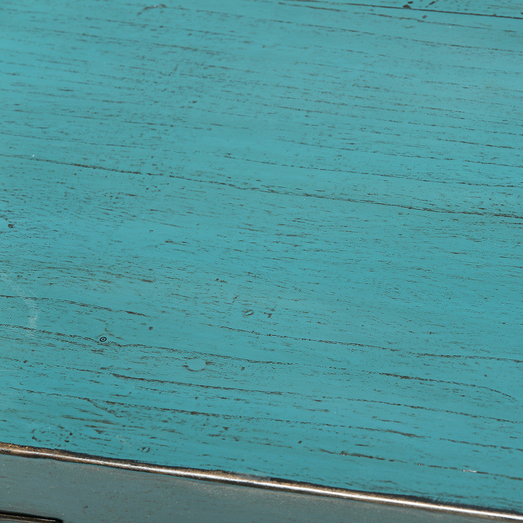 ROUGE Turquoise Chinese Cabinet with High Doors - detail