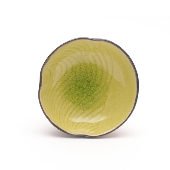 Apple Green Crackle Glass Glaze Dimpled Dish - Chinese homewares- Rouge Shop antique stores London - city furniture