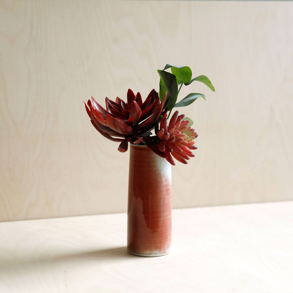Red and White Porcelain Vase