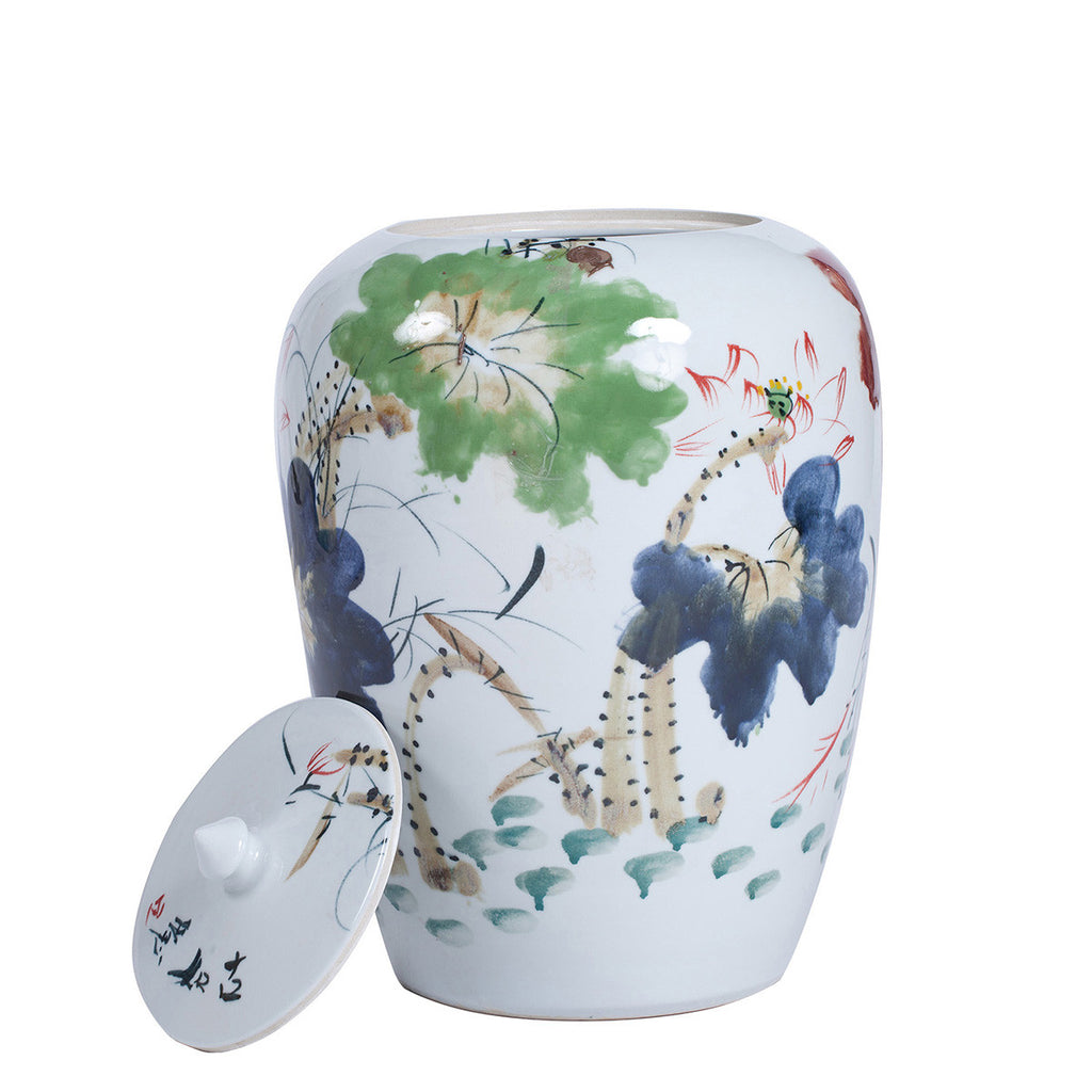 Handpainted Chinese Ceramic Vase - Chinese homewares- Rouge Shop antique stores London - city furniture