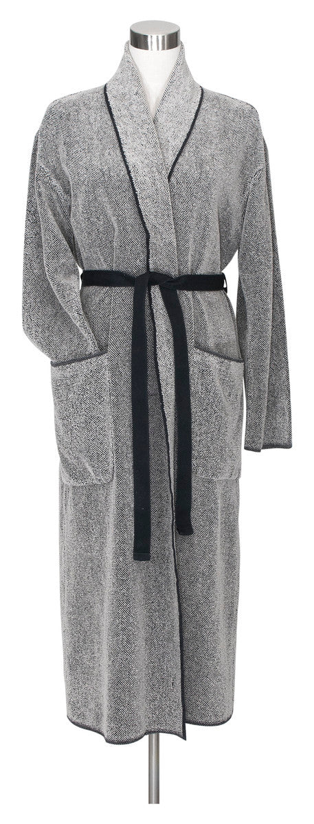 Washed Linen Terry Bathrobe