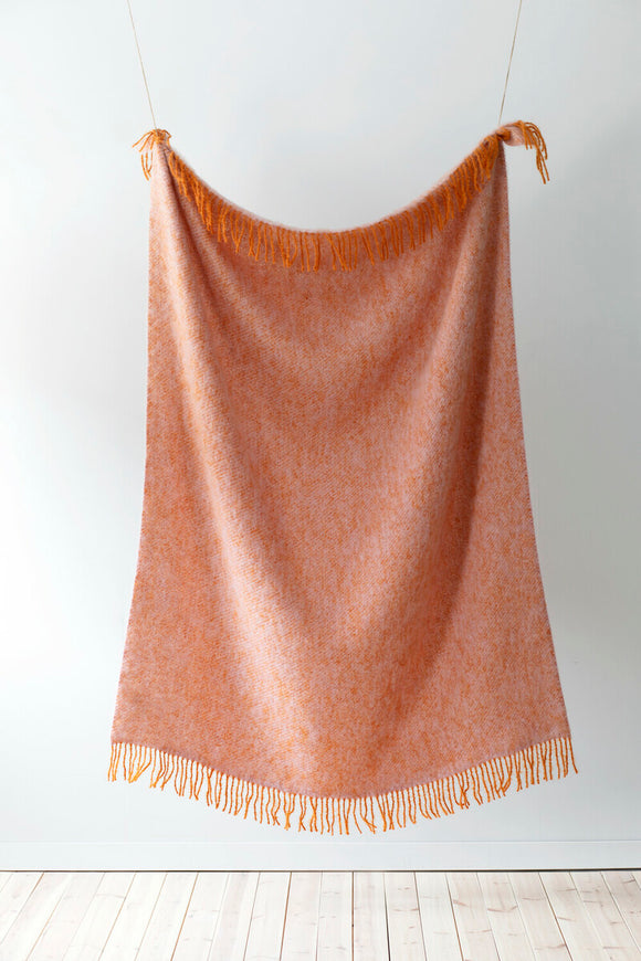 Mohair Blanket - Rust/Rose