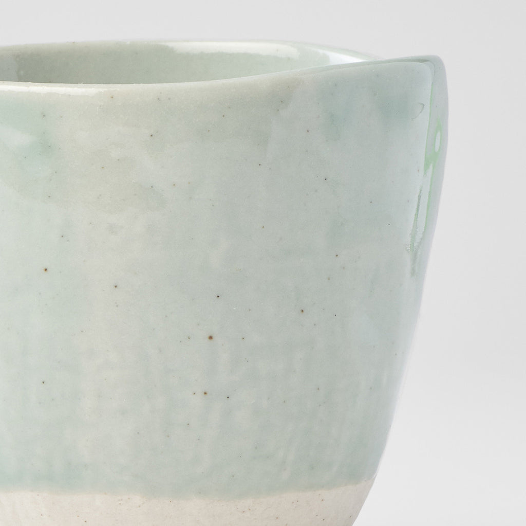 Clear Blue Lopsided Sushi Mug