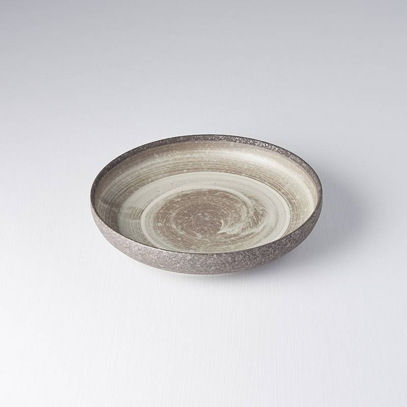 Ninrin Plate with High Rim