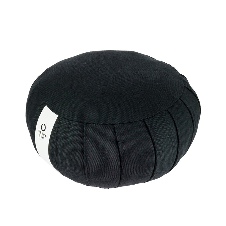 Black Kapok Round Zafu - Meditation Cushion