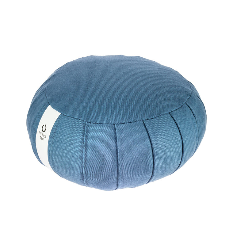 Blue Kapok Round Zafu - Meditation Cushion