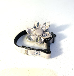 Grey Floral Flower Collar