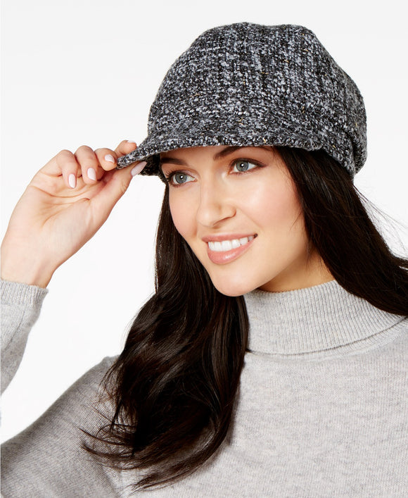 Nine West-Metallic Boucle Cap-Regular-One Size