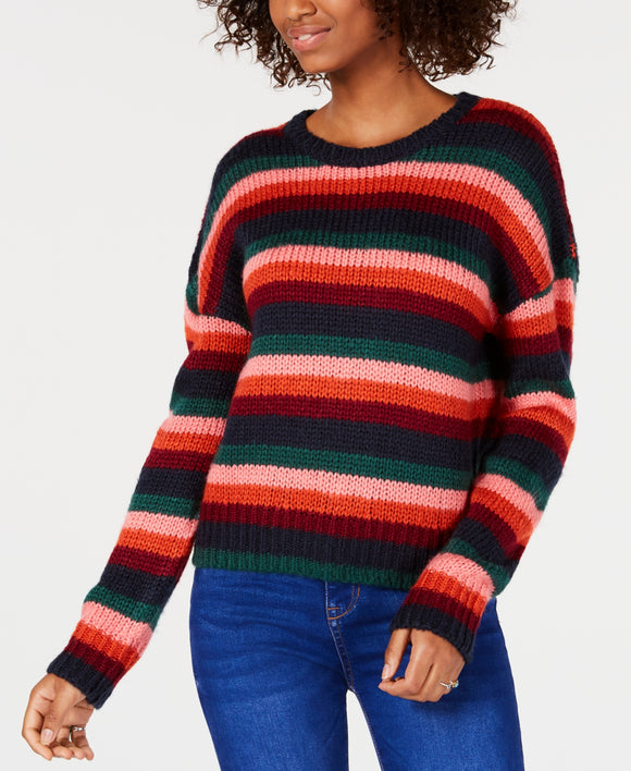 Hooked Up by IOT  - Striped Sweater - Juniors - XS