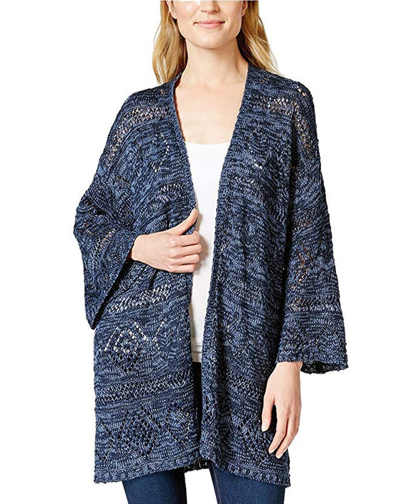 Style & Co.  - Open-Front Kimono-Sleevless - Petities - XL - NAVY