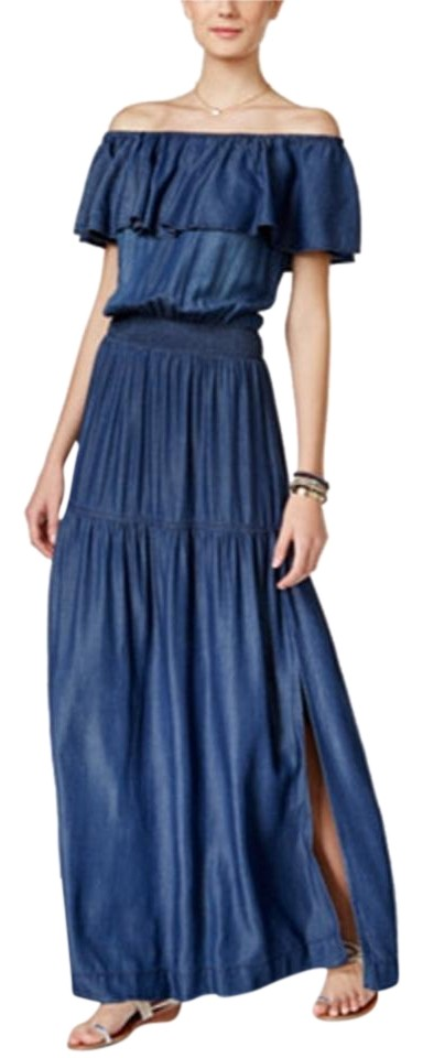 INC International Concepts - Off-The-Shoulder  - Petities - XS - BLUE