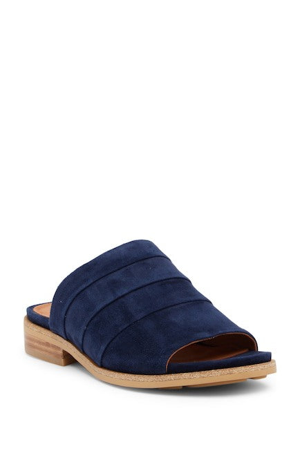 Gentle Souls Suede Gayle Slide Sandals Navy, 7M