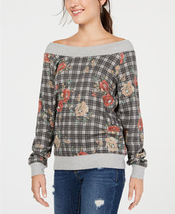 American Rag - Off-The-Shoulder Sweatshirt - Juniors - XL