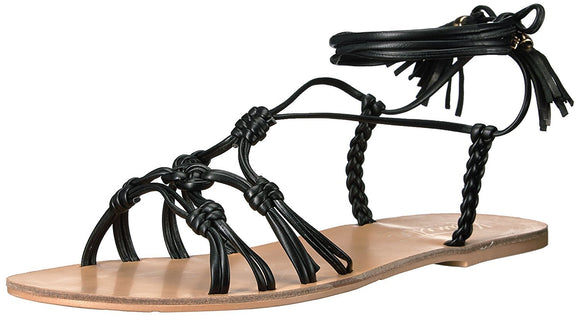 Nanette Lepore June Flat Sandals Black, 9M