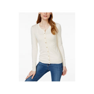 Charter Club  - Textured Cardigan - Petities - M - NATURAL