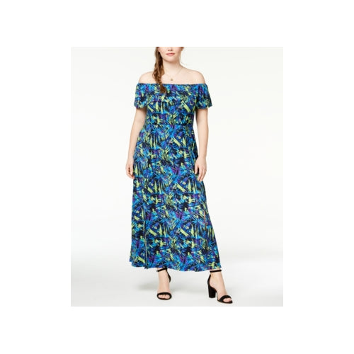 Fox+Royal - Off-The-Shoulder Maxi Dress - Plus - 2X