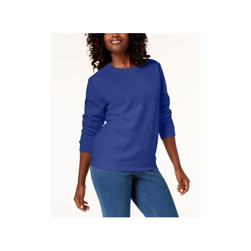Karen Scott - Crew-Neck Sweatshirt - Petite - P/XL