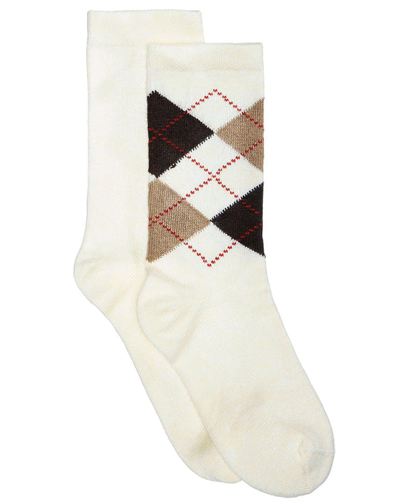 Hue - 2-Pk. Solid & Argyle Boot Socks  - Regular - 9-11