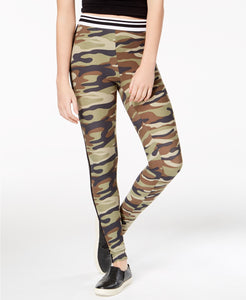 Planet Gold - Striped Camouflage-Print Leggings - Juniors - L
