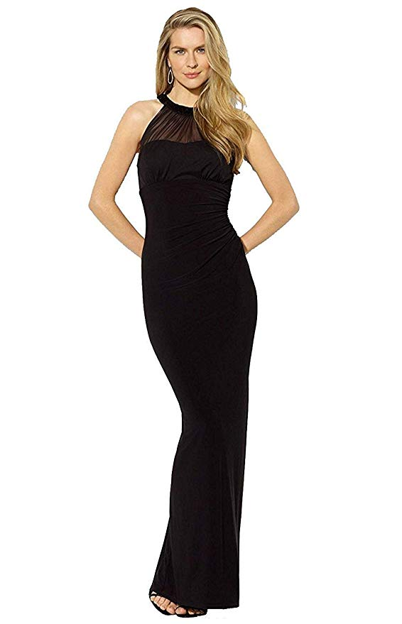 Lauren Ralph Lauren - Sleeveless Mesh Beaded Dress - Petities - 14 - BLACK