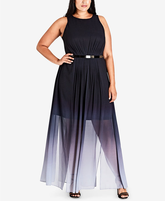City Chic - Ombré Maxi Dress - Plus - 24W