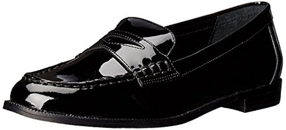 Lauren by Ralph Lauren Women's Barrett Penny Loafer, Black Patent Leather, 5 B US