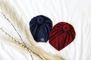 Knotted Turban | Navy